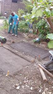 Prépation du terrain pour la mise en place du dallage et du pavage